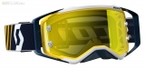 Moto brýle SCOTT Prospect blue/white yellow chrome works