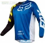 MX dres Fox 180 Race Jersey Blue 2018