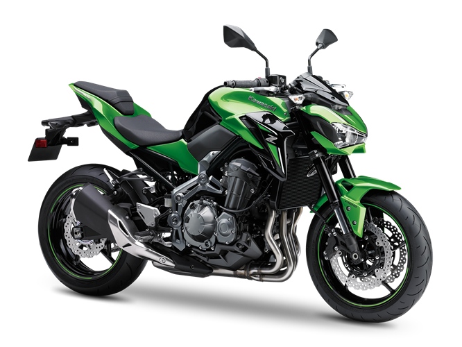 1.KAWASAKI Z900 MY18 CANDY LIME GREEN / METALLIC FLAT SPARK BLACK