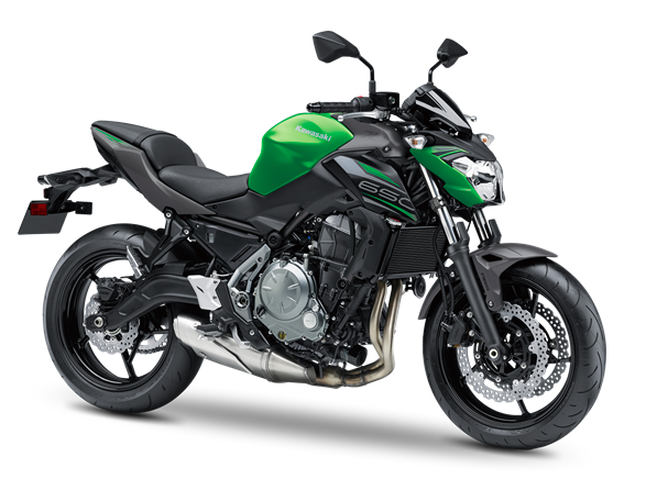 2.KAWASAKI Z650 MY19 Candy Flat Blazed Green / Metallic Matte Graphite Gray / Metallic Flat Spark Black