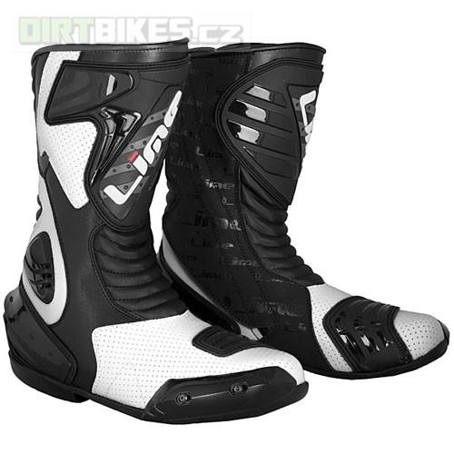 MBW moto boty LIME SP111 Black White