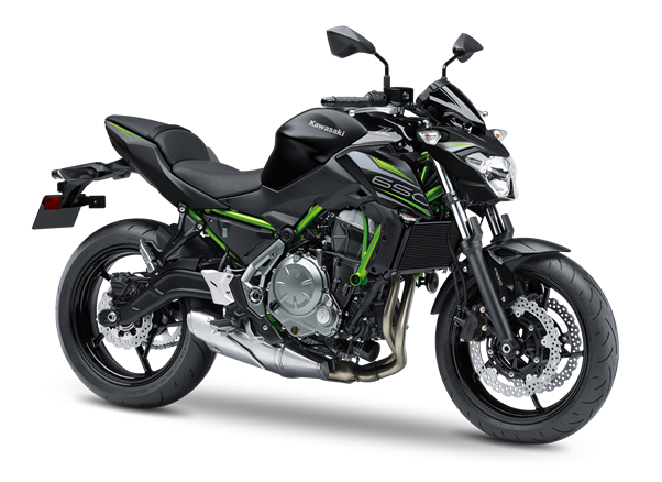 2.KAWASAKI Z650 MY19 Metallic Flat Spark Black / Metallic Spark Black