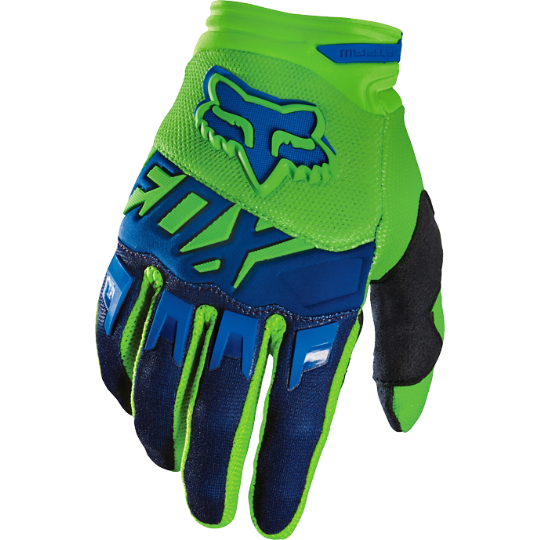 Pánské MX rukavice Fox Racing Dirpaw Mako Glove Green/Blue