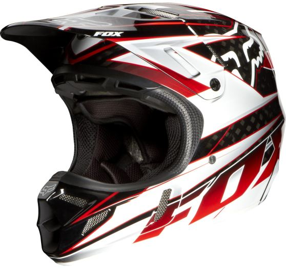 Fox V4 Race Helmet, Ece Black/Red