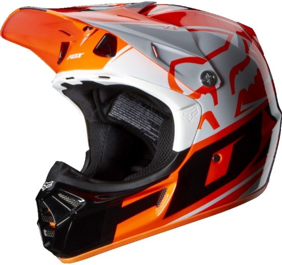 FOX Pánská helma Fox Racing V3 Toner Helmet, Ece Orange