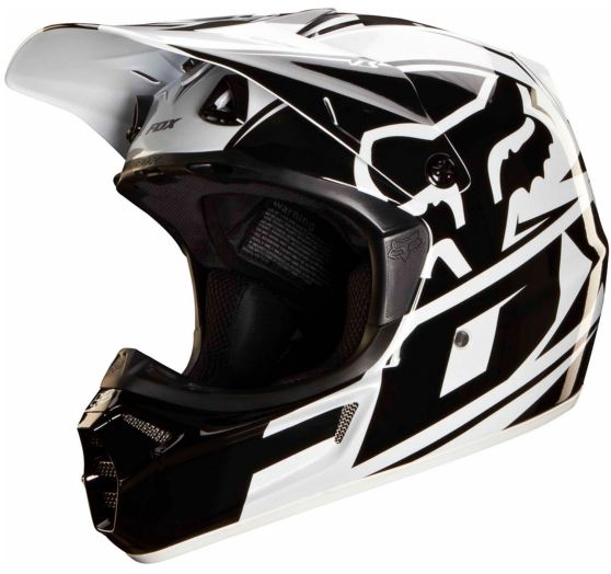 FOX Pánská helma Fox Racing V3 Toner Helmet, Ece White