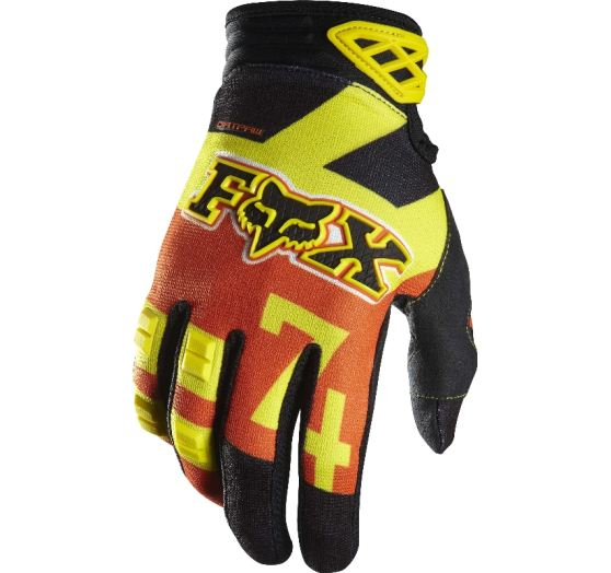 Fox Pánské rukavice Fox Racing Dirtpaw Anthem Glove Orange
