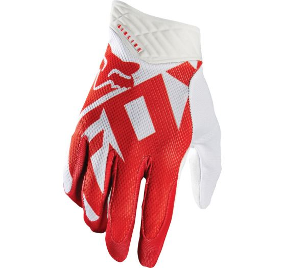 Pánské MX rukavice Fox Racing Shiv Airline Glove Red/white