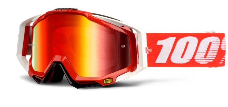 Brýle MX 100% RACECRAFT FIRE RED