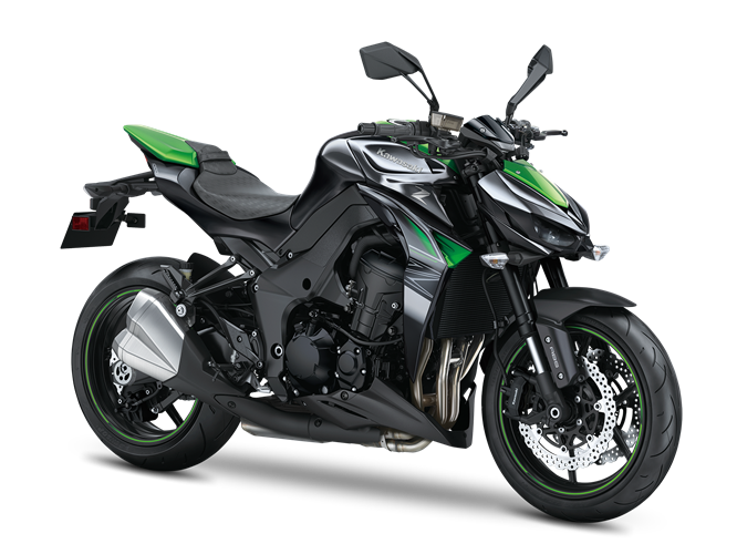 7.KAWASAKI Z1000 METALLIC SPARK BLACK / GOLDEN BLAZED GREEN