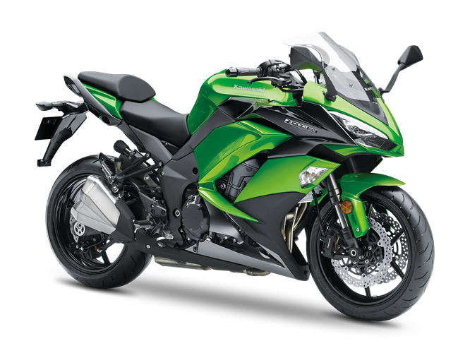 6.KAWASAKI Z1000SX CANDY LIME GREEN / METALLIC CARBON GRAY