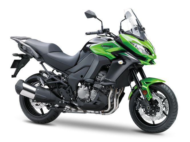 5.KAWASAKI VERSYS 1000 CANDY LIME GREEN, METALLIC CARBON GRAY