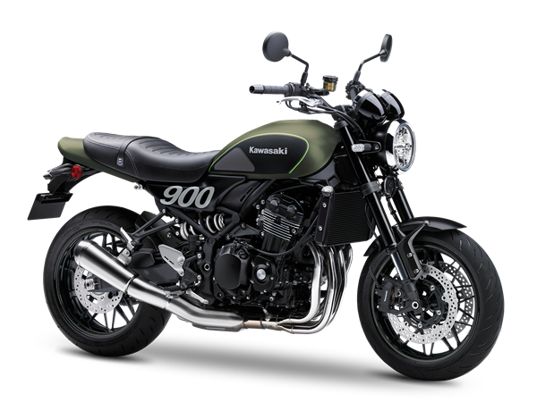 1.KAWASAKI Z900RS MY18 Metallic Matte Covert Green / Flat Ebony