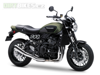 1.KAWASAKI Z900RS MY19 Metallic Matte Covert Green / Flat Ebony