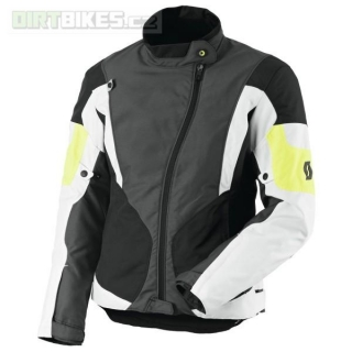 Dámská moto bunda SCOTT Technit DP grey/yellow L