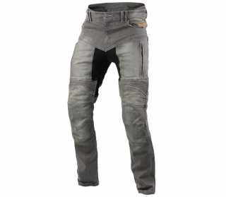 Pánské moto jeansy Trilobite 661 Parado TÜV CE mens jeans light grey level 2
