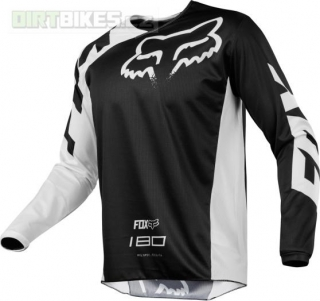 MX dres Fox 180 Race Jersey Black val XL