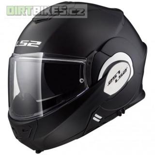 LS2 FF399 Valiant SOLID Matt Black helma výklopná + rukavice empty a2dff5b759