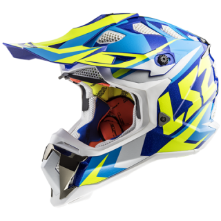 LS2 MX470 SUBVERTER nimble white blue H-V yellow + brýle