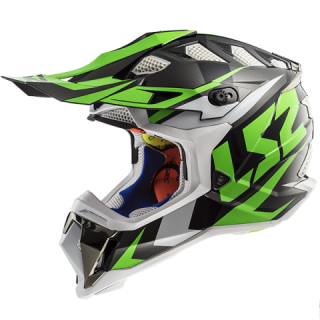 LS2 MX470 SUBVERTER nimble black white green+ brýle