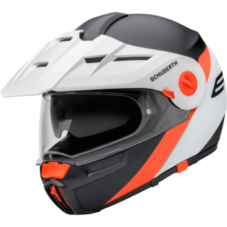 SCHUBERTH E1 Gravity Orange Enduro vyklápěcí přilba