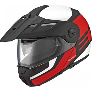 SCHUBERTH E1 Guardian Red Enduro vyklápěcí přilba
