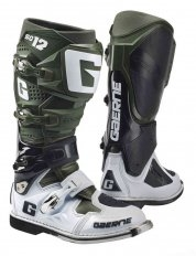 Moto boty Gaerne SG-12, LIMITED EDITION ARMY WHITE / GREEN / BLACK