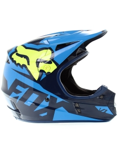 MX Helma Fox Racing V1 Race Blue yellow
