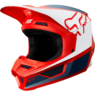 MX helma FOX V1 Przm helmet navy/red