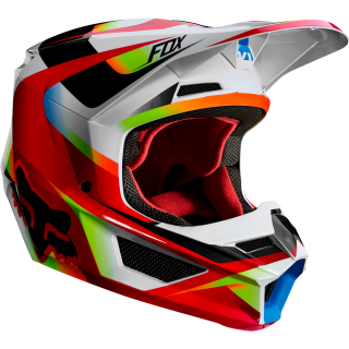 MX helma FOX V1 Motif helmet red/white