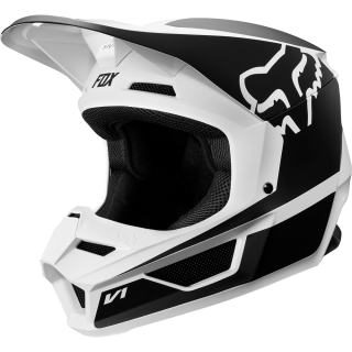MX helma FOX V1 Przm helmet black/white