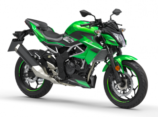 KAWASAKI Z125 MY19 Candy Lime Green / Metallic Flat Spark Black