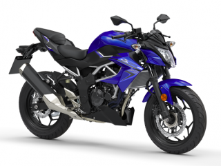 KAWASAKI Z125 MY19 Candy Plasma Blue / Metallic Spark Black