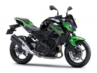 KAWASAKI Z400 MY19 Candy Lime green / Metallic Spark Black