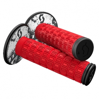 Scott Mellow MX Grips + Donuts red/black