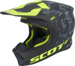 Motokrosová přilba Scott 550 Camo black/yellow