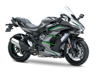 NINJA H2 SX SE+ MY2019  Metallic Graphite Gray / Metallic Diablo Black / Emerald Blazed Green