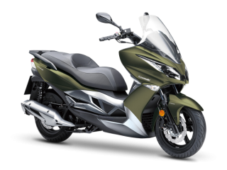 2.Kawasaki J125 ABS Khaki / Metallic Moondust Gray MY2019