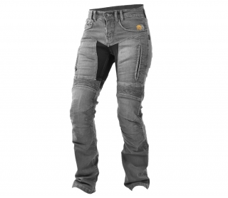 Dámské moto jeansy Trilobite 661 Parado TÜV CE ladies jeans light grey level 2 long - prodloužené