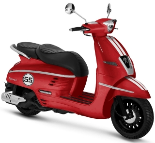Peugeot DJANGO Sport 125I ABS Satin Cherry Red
