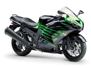 KAWASAKI ZZR1400 MY20 Metallic Diablo Black / Golden Blazed Green