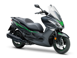 KAWASAKI J300 SE  Metallic Flat Anthracite Black / Candy Flat Blazed Green