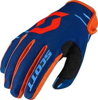SCOTT motokrosové rukavice glove 350 DIRT blue/orange
