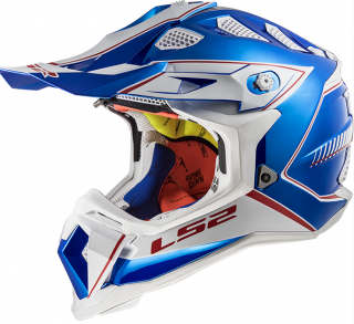 LS2 MX470 SUBVERTER Power Chrome Blue + brýle