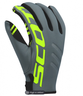 SCOTT pánské rukavice glove Neoprene grey/lime/yellow