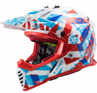 Juniorská přilba LS2 MX437J FAST EVO mini Funky Red White