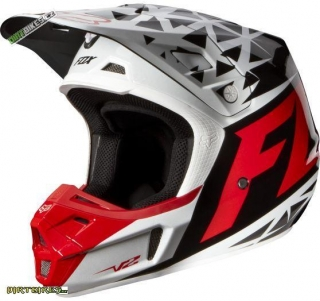 FOX V3 Given Helmet, Ece Red / White
