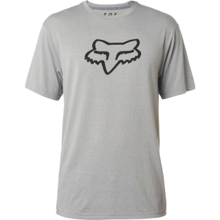 Pánské triko FOX Tournament SS Tech Tee Heather Dark Grey