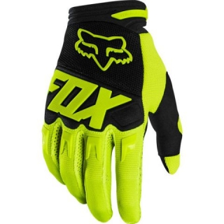 MX rukavice Fox Dirtpaw Race fluo yellow