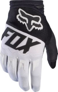 FOX rukavice Dirtpaw Race - Black/White, MX